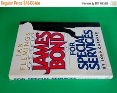 "ON SALE Vintage Hardcover ""James Bond in For Special Services"" by John Gardner 1982 -    Edit Listing  - Etsy"