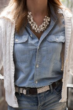 chambray & pearls