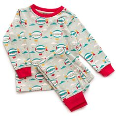 Little Green Radicals Pyjamas - Aqua Zeppelins Pyjamas, Pjs, Zeppelin, Baby Kids, Aqua, Rompers, Sweatshirts, Green, Sweaters