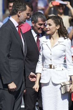 King Felipe VI of Spain and Queen Letizia of Spain attend the presentation of the 'Barrios por el Empleo' project at the Cabildo Insular on April 25, 2017 in Tenerife, Spain.