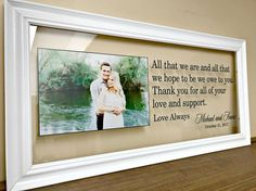 Wedding Gifts for Parents Christmas Gifts for by TheBindingTie