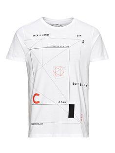 - T-shirt slim pour une silhouette élancée - 100% coton pour plus de confort - Imprimé construction pour un look graphique - Le mannequin porte la tailleL et mesure 187 cm - CORE by JACK & JONES