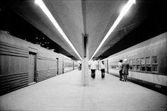 El anden de ferrocarril de la estacion buenavista 1963
