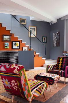 Casinha colorida: Home Tour: com charme e muitas cores