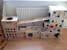 diy cat tree cheap transform that stack of old boxes into a chic cat house that you i created this as a playhouse for my cat its made out of old cardboard cat trees #catsdiycardboard