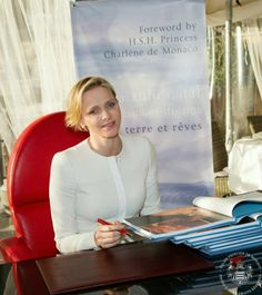 """Princess Charlene attended the presentation of the book """"KZN Land of Dreams"""", 24.01.14"""