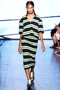 DKNY Spring 2015. See all the best runway looks from #NYFW here: