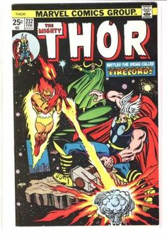 mighty thor covers silver age | The Mighty Thor 232 Firelord Bronze age Marvel comics group