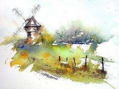 Blog de fanchon :aquarelles de Fanchon, moulin du diable