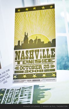 save the date by Hatch Show Print