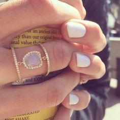 14kt yellow gold raw sliced diamond double band ring – Luna Skye by Samantha Conn