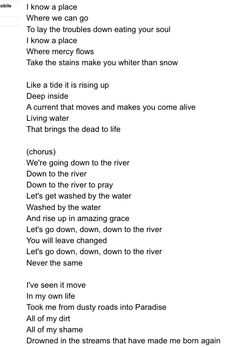 The River by Jordan Feliz.   Love this song