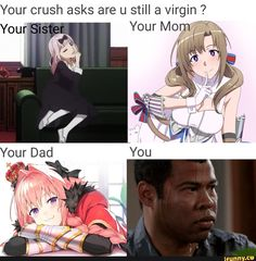 Anime Meme, Thicc Anime, Otaku Anime, Funny Video Memes, Stupid Funny Memes, Funny Relatable Memes, Dankest Memes, Pokemon Memes, Anime City