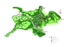 Alderly country park, 3D watercolour map.