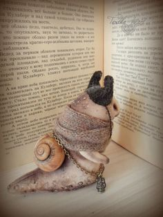 Snail toy stuffed doll artist by IrinaSTextileheart on Etsy
