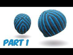 slip stitch crochet / bosnian crochet - Hazelnut Beanie english version part 1 - YouTube