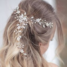Crystal Creations Tiaras Faye Hair Vine ($300) ❤ liked on Polyvore featuring jewelry, crystal jewellery, vine jewelry, crystal stone jewelry, diamante jewelry and diamante jewellery