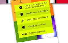 alcCalc app can track your blood alcohol level and sober up time