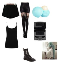 """""""Outfit 2"""" by xxfoxskullxx on Polyvore featuring WithChic, M&Co, Giuseppe Zanotti, River Island and Lancôme"""