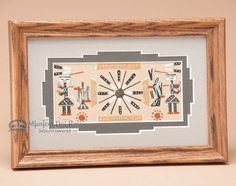 """Native American Navajo Sand Painting 6""""""""x9"""""""" (sp26)"""