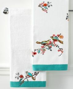 Lenox Simply Fine Bath Towels, Chirp Collection | macys.com