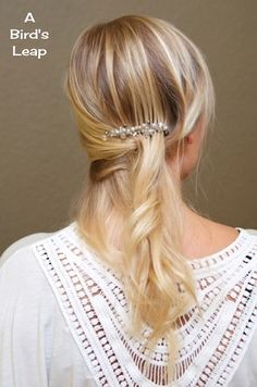 A Bird's Leap: DIY Bridal Hair Accessory & Earrings. I can do this! Diy Bridal Hair, Diy Wedding Hair, Bridal Comb, Wedding Ideas, Braided Hairstyles, Wedding Hairstyles, Bridal Hairstyle, Medium Hair Styles For Women, Hair Up Or Down