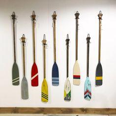 Oar Decor, Lodge Decor, Coastal Decor, Painted Oars, Hand Painted, Wood Canoe, Paddle Boat, Boat Painting, Camping