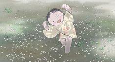 Little kid Kaguya playing around. -- Studio Ghibli movies, Japanese films, The Tale of Princess Kaguya, moments, scenes, screenshots, characters, cute, child