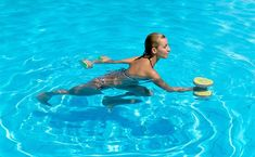 Water Aerobics Workout, Water Aerobic Exercises, Swimming Pool Exercises, Swimming Pools, Ab Exercises, Pool Workout For Abs, Cardio, Treading Water, Senior Fitness