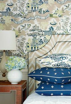 Lisa Mende Design: Thibaut New Collections for Spring 2014 - High Point Market - Chinoiserie wallpaper