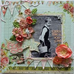 Catch Me If You Can! SCRAPS OF ELEGANCE MARCH KIT - layout created by Sarah Bargo