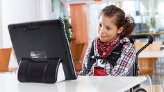 Tobii Assistive Technology - (known for eye tracking) working with a girl with Rett Syndrome <3 amazing modern technology