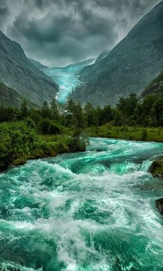 Briksdal Glacier in Stryn, Norway • photo: Paolo Paccagnella on 500px