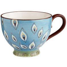 Peacock Mug Cute Mugs, Funny Mugs, Peacock Decor, Peacock Theme, Peacock Blue, I Love Coffee, Pier 1 Imports, Mug Cup, Crate And Barrel