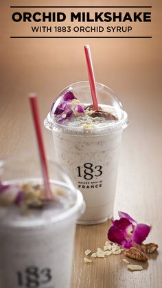 Get this recipe with an exotic twist on a classic from 1883 Maison Routin. Milkshake Recipes, Baking Ingredients, Cookie Dough, Smoothie, Orchids, Drinks, Blog, Drinking, Beverages