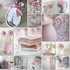 Beautiful Pink and Lavender ~ collage made by AT Word Collage, Color Collage, Collages, Pot Pourri, Estilo Shabby Chic, Mood Colors, Beautiful Collage, Photo Images, Malva