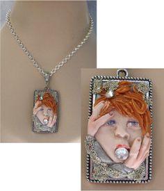 Silence Pendant Necklace Jewelry Handmade NEW Polymer Clay Art Accessories http://cgi.ebay.com/ws/eBayISAPI.dll?ViewItem&item=151237867270