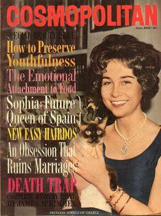 Cosmopolitan magazine, JUNE 1962 Princess Sofía of Greece on cover