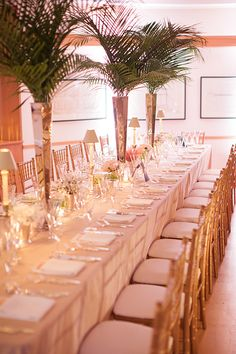 Pink and gold reception decorations | @whenhefoundher | Brides.com