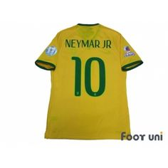 2e3a8fff0cd Brazil 2015 Home Authentic Shirt #10 Neymar Jr Copa America Chile 2015 Patch /Badge w/tags