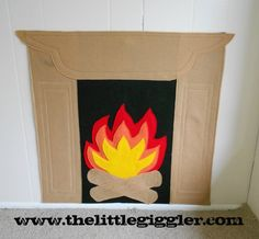 Felt Fireplace.  Every year I make mine out of butcher paper, felt would last much longer!!!