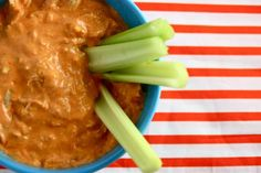 Buffalo chicken dip - I have tried this from the Franks hot sauce site - this looks better, I like the idea of cheddar instead of Mozarella cheese. Buffalo Chicken Dip Recipe, Chicken Dips, Chicken Recipes, Appetizer Dips, Appetizer Recipes, New Years Eve Food, Game Day Food, Dip Recipes, Cheap Recipes