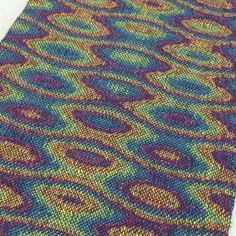 Hand Woven Table Runner Science Art Handwoven by LoomOnTheLake