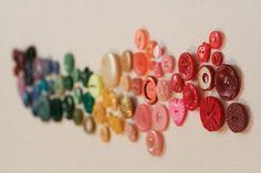 button wall art...: Rainbow button wall art ~ Her Library Adventures