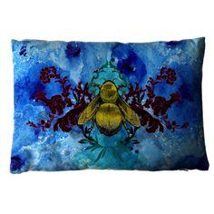 Timorous Beasties Cushions - Blue Blotch Bee