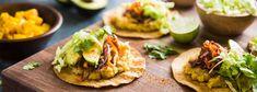 Wicked Healthy Fajita Tostada with Chili-Lime Mango Salad