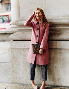 Pink coat/Leopard
