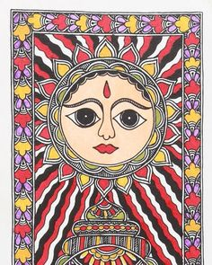 Sun. Greeting card design