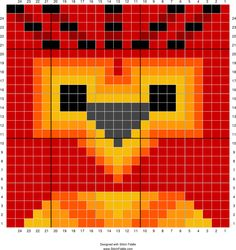 Fawkes graph   Designed by Autumn Edlin   Stitch Fiddle
