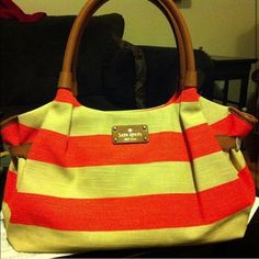 Kate Spade Jubilee stripe bag 100% authentic. Used a handful of times. No trades, no Mercari and no PayPal kate spade Bags